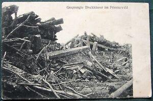 Demolished Bunkers Priesterwald orig 1916 WW I  German Soldier's Mail Feldpost