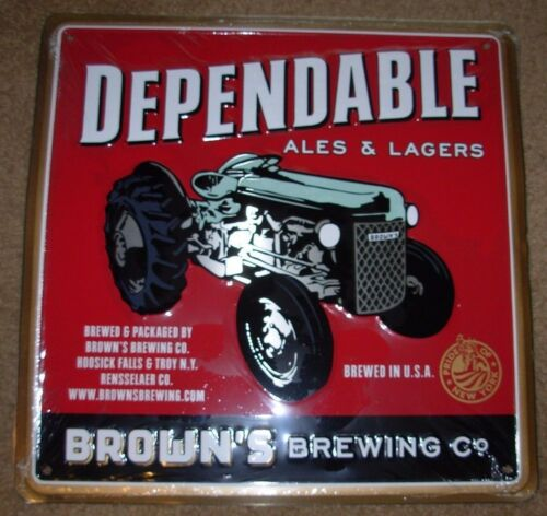 BROWNS BREWING COMPANY New York TRACTOR METAL TACKER SIGN craft beer brewery