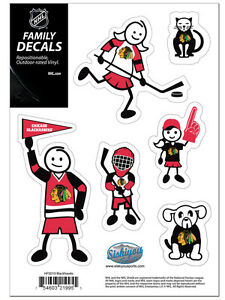 Chicago Blackhawks Family Decals Pack NEW Auto Car Stickers - Family car sticker decalsfamily car decals ebay