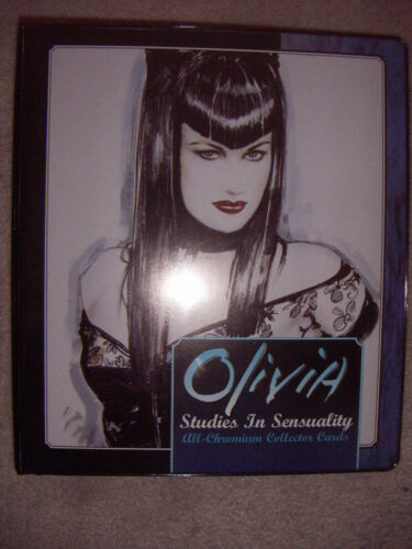 OLIVIA Studies in Sensuality TRADING CARD BINDER FOLDER for Trading Cards New