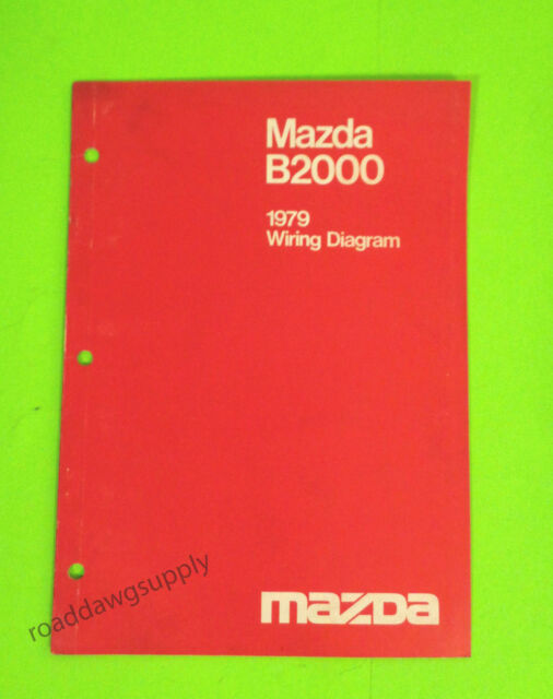 1979 Mazda B2000 Wiring Diagrams Service Shop Manual