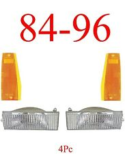 84 96 Jeep Cherokee 4PC Light Kit, Parking & Side Lights Included, NIB