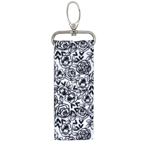 Woman Storage Chapstick Lipstick Holder Pouch Bag Key Ring Printing Keychain