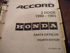 1990 1993 Honda Accord 2 door 4th Edition Parts Catalog Manual BQ351 OEM