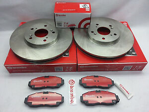 Acura 02-06 RSX Type-S BREMBO Front /& Rear Brake Rotors /& Brake Pads Set
