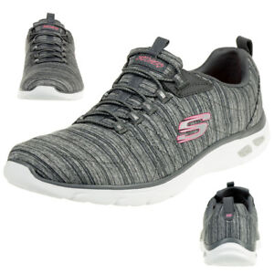 Details zu Skechers Relaxed Fit EMPIRE D'LUX Damen Sneaker Air cooled Memory Foam grau