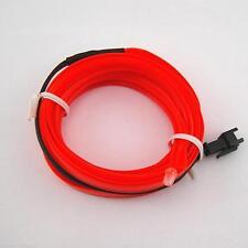 5/2M 12V Flexible Car Interior Decor Neon LED Glow EL Wire Strip Rope Tube Light