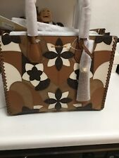 880a81bbca5ed Michael Kors Mercer Large Tote Floral Patchwork Leather Convertible Acorn