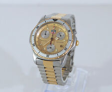 Tag Heuer Professional 2000 Qz Chronograph SS & 18k 80's Serviced 1yr Guarantee