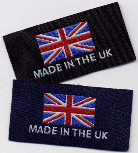 Pack of 10 Woven Garment Labels Made in The UK 25mm x 50mm