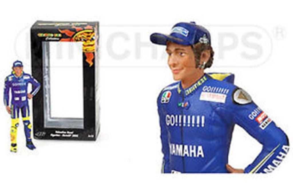 Minichamps 050246 figurine debout Valentino Rossi Motogp Yamaha équipe 2005 1,12
