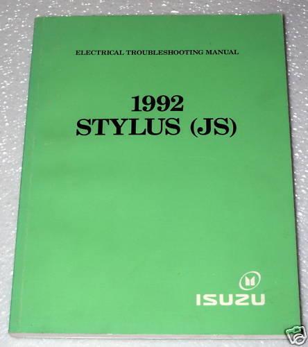 1992 Isuzu Stylus Electrical Troubleshooting Shop Manual