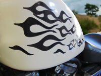 No. 22 Devil Tail Flame Decals 22pc Set For Honda Shadow Goldwing Pick Colors