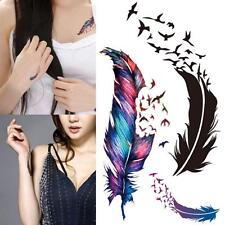 3D Waterproof Flash Temporary Tattoo Feather Birds Body Art