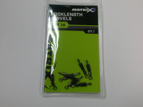Matrix 2 x Hooklength Swivels 7pk ALL SIZES Fishing tackle
