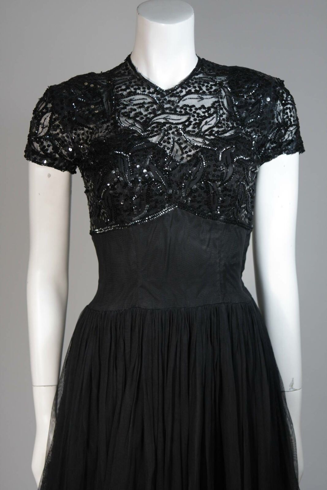 CEIL CHAPMAN Attributed Black Gown Size Small - image 3