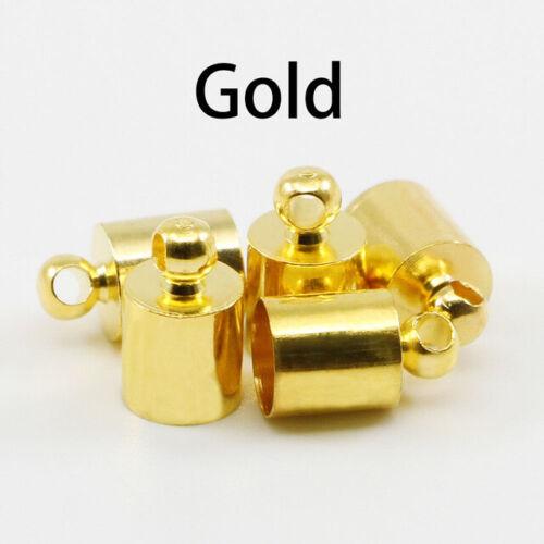 Tassel 50pcs Leather Cord Jewelry Accessories End Crimp Beads Cap End Tip Cap