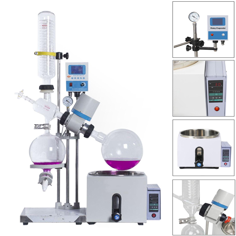 1L-5L 0-120rpm 0-99℃  Laboratorio Destilador Purificación Giratorio Evaporador