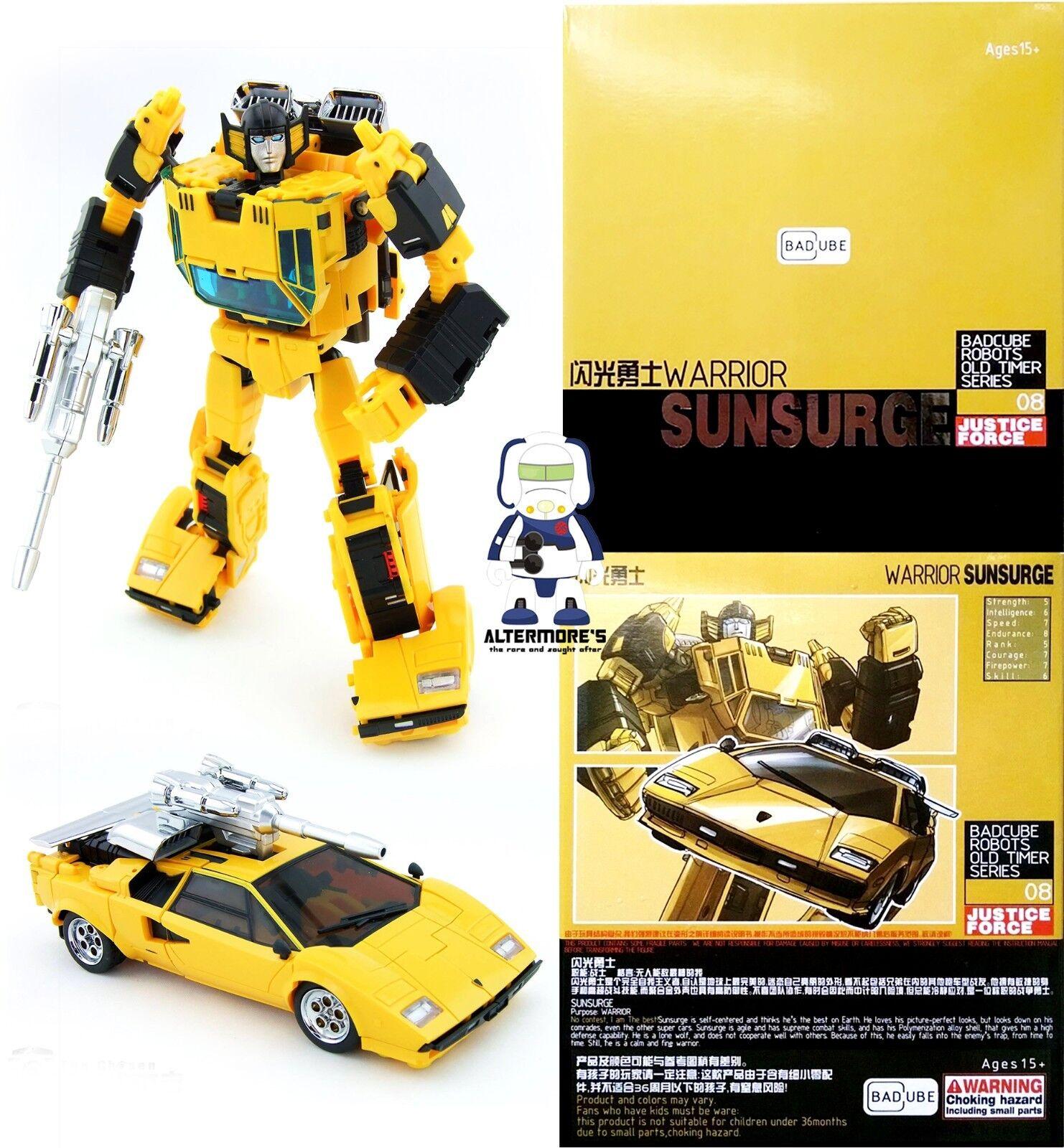 Transformers Masterpiece BadCube OTS-08 Sunsurge aka MP Sunstreaker MIB
