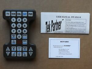 Tek Partner Large Universal Remote Control Bw 0561 R With Users