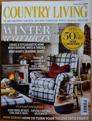 Country Living Magazine Februar 2 2015 Englisch Winter Warmers Ebay