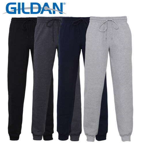 Gildan GD086  Heavy Blend Cuff Sweatpants Pants Casual Wear Trousers ComfortFit
