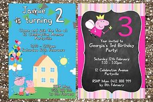 photo about Peppa Pig Printable Invitations identify Facts concerning Printable Invite Personalized PEPPA PIG BIRTHDAY Bash Invitation JPEG By yourself Print