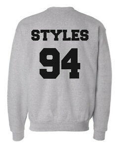 a17ff0696e07 Image is loading Harry-Styles-94-Jersey-One-Direction-Fan-Crewneck-