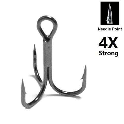 4X Fuerte 30 Ganchos Para Cada Pack Negro Níquel Punta Aguja Triple FH87HP30