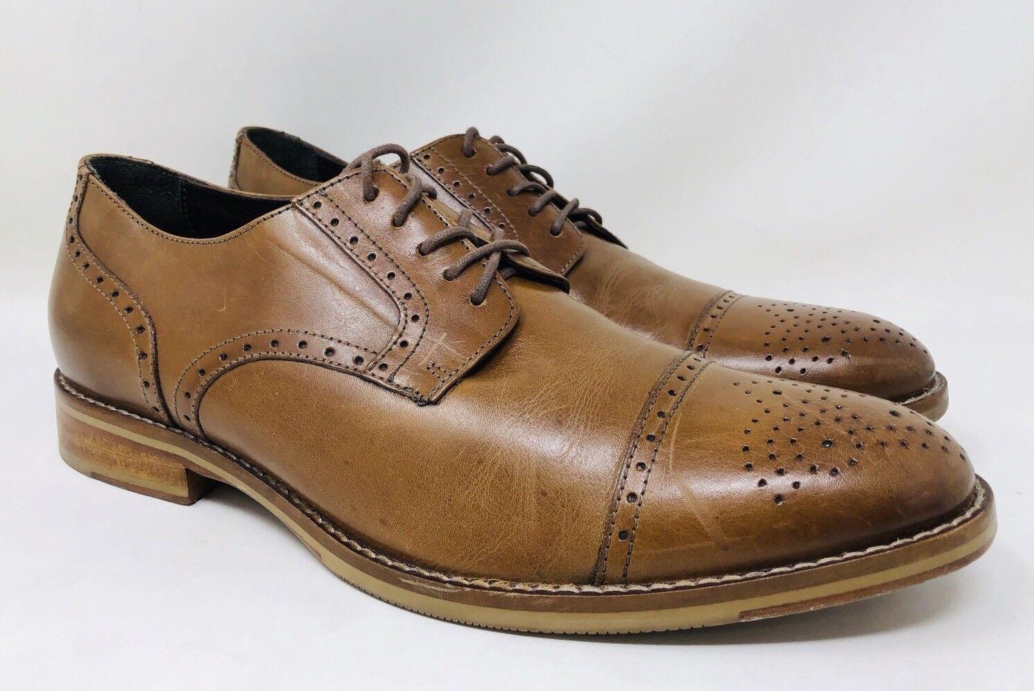 J&M 1850 Mens 'Meritt' Cap Toe Derby Tan Leather Größe Größe Größe 9 Retail  165 40f2a1