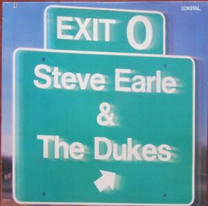 STEVE-EARLE-amp-THE-DUKES-EXIT-O-LP-US-Import-MCA-5998-1987-Excellent