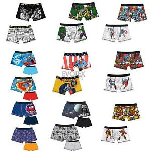 Mens-Official-Character-Trunks-Boxer-Shorts-Boxers-Underwear-2-Pack-Size-S-XL
