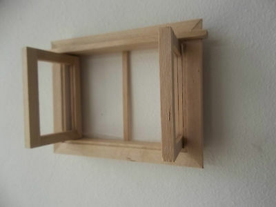 Dolls House Miniatures 1/12 th Scale Small Wooden Window New FREE UK POSTAGE