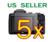 5x Nikon Coolpix L120 Clear LCD Screen Protector Guard Cover Film