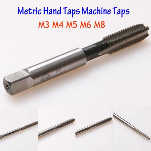HSS Métrique Main Robinet Set Taraud Machine M3 M4 M5 M6 M8 Droite Fil Perceuse Embouts
