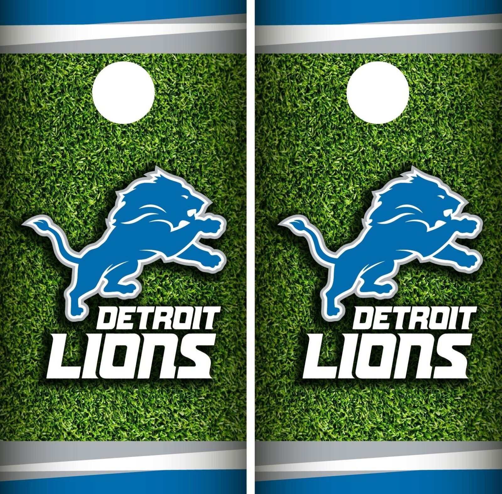 Detroit Lions Field Cornhole Wrap NFL Game Skin Board Set Vinyl Decal CO65