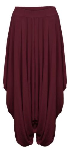 Femme Femmes réunis drapée Baggy Sarouel Pantalon Lagenlook Alibaba 8-26