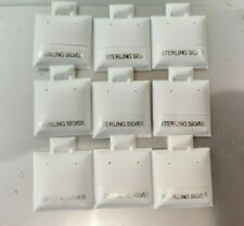 100 White Sterling Silver Puff Earring Display Cards Wholesale Lot Jewelry Store
