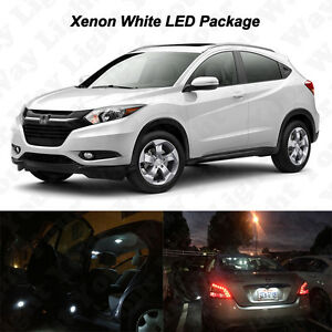 10x-White-LED-Interior-Bulbs-License-Plate-Lights-For-2016-2017-Honda-HRV-HR-V