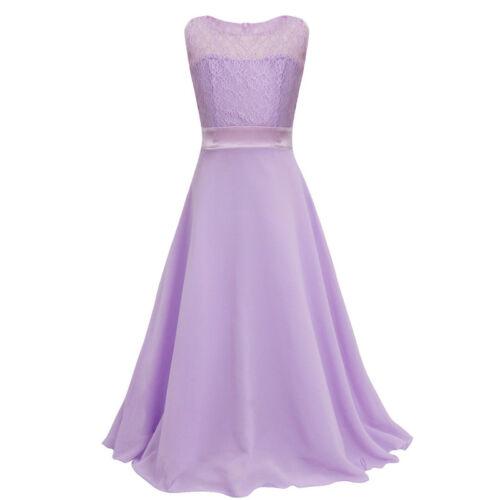 Mädchen Kind Ärmellos  Prinzessin Sommerkleid Festkleid Kostüm formal dress