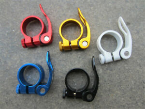 1MTB-Road-Bike-Bicycle-Seat-Post-Saddle-Clamps-Clamp-Quick-Release-34-9mm-36g