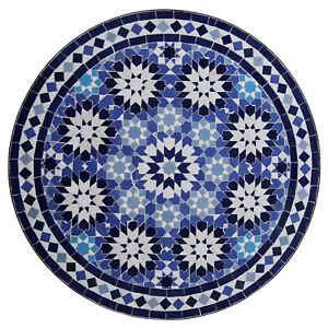 Détails sur Marocain Table en Mosaïque Plateau à Thé Ankabut Midadi Bleu  D60cm