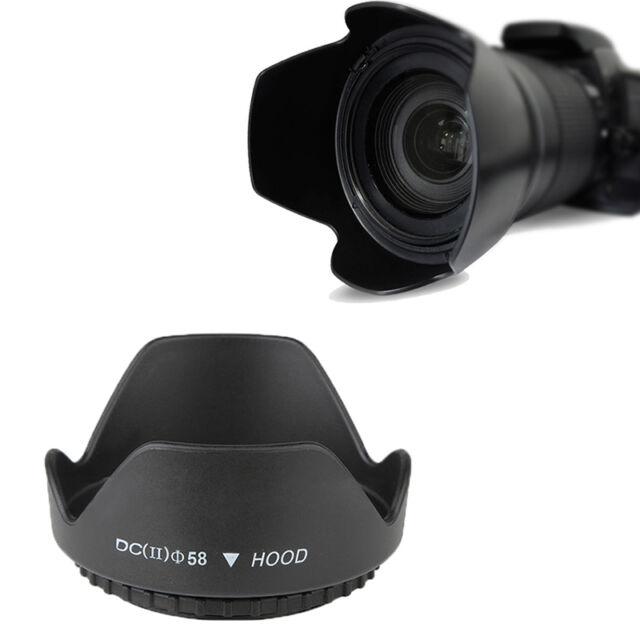 Sonnenblende Gegenlichtblende für Kameras & Objektive mit Ø 58 mm Gewinde H T9M3