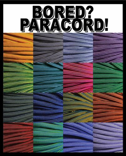 550 Paracord Rope Mil-Spec Type III - Assortment of 16 Reflective Patterns