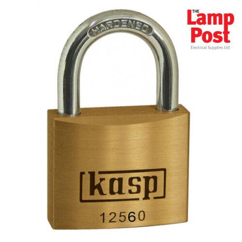 CK Tools Kasp K12560D Premium Brass Padlock 60mm with Hardened Steel Shackle
