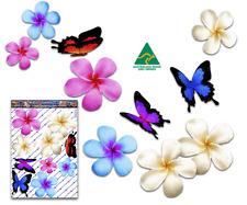 Jas Stickers Flower Plumeria Car Sticker Lg Butterfly Pack St024mc3 Aussie Made
