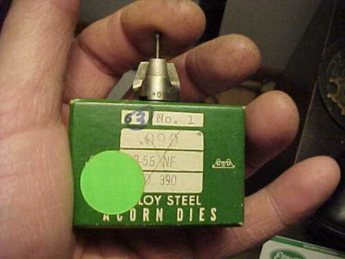 NOS Greenfield 3-56 NF Acorn Die No.1 USA Watchmaker Gunsmith Hobbyist