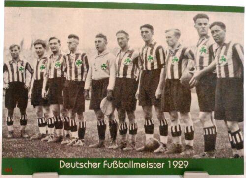 Deutscher Fußball Meister 1929 Fan Big Card Edition F46 SpVgg Fürth
