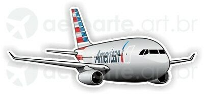 Airbus A330-200 American Airlines aircraft round sticker
