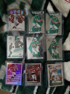 9 Tua Tagovailoa Rookie Cards. Mosaic, Rated Rookie, Legacy, Crown Royale And...